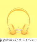 Headphone yellow color minimal and pastel concept 39475313