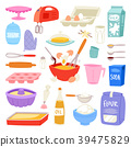 Bakery ingredients vector food and kitchenware for 39475829