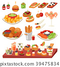 Appetizer vector appetizing food and snack meal or 39475834