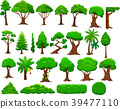 Set of cartoon trees and bushes 39477110