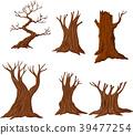 Set of cartoon dry trees 39477254