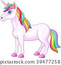 Cartoon rainbow unicorn horse 39477258