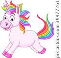 Cartoon rainbow unicorn horse 39477261