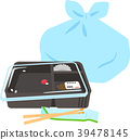 盒饭盒和塑料袋 39478145