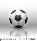 Soccer Football Isolate on White Background 39478662