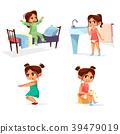 Girl kid morning vector illustration of cartoon 39479019