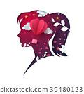 vector, illustration, girl 39480123