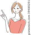 女性手指指向 39480201