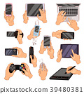 hands, gadget, vector 39480381