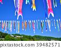 在Sagami河藍天的飄帶游泳 39482571