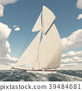 Sailing yacht in the open sea 39484681