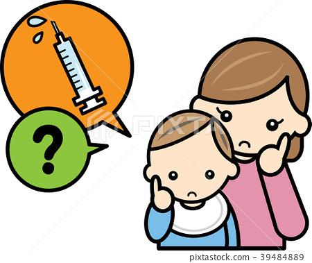 妈妈和宝宝怀疑疫苗接种 39484889