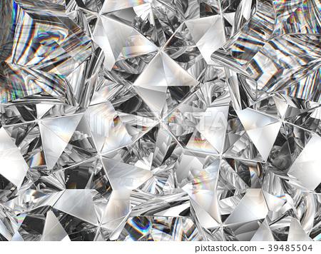 diamond texture closeup and kaleidoscope 39485504