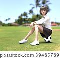 축구 여학생 perming3DCG 일러스트 소재 39485789