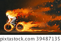 man riding a fire bicycle 39487135