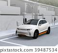 갓길 주차 된 전기 SUV가 급속 충전하는 이미지 39487534
