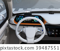 Image of electric SUV dashboard with head up display 39487551