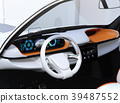 Image of electric SUV dashboard with head up display 39487552