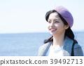 海上旅行的女人 39492713