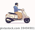 motorbike, motorcycle, woman 39494901