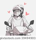 motorbike, motorcycle, girl 39494903