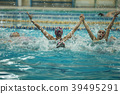 synchronized swimming victory splashes of success 39495291