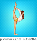 Vector pop art girl doing gymnastics or yoga 39496966