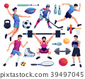 people involved in sport set 39497045