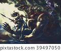 Great Amazon waving sword killing the devil 39497050
