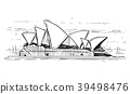 Cartoon Sketch of Sydney opera House, Australia 39498476