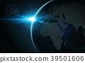 矢量 地球儀 土地 39501606
