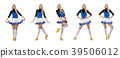 Cheerleader isolated on the white background 39506012