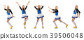 Cheerleader isolated on the white background 39506048