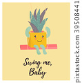 cactus, cute, vector 39508441