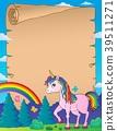 Happy unicorn topic parchment 3 39511271