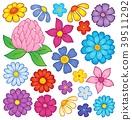 flower heads stylized 39511292