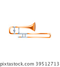 Trombone, classical music wind instrument vector 39512713