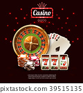 Glowing Casino Realistic Composition 39515135