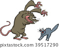 vector cat mouse 39517290