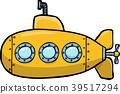 vector,submarine,yellow 39517294