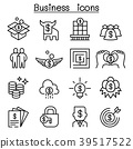 Business concept icon set in thin line style 39517522