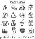 Money, Cash, Bank note, coin icon set  39517525