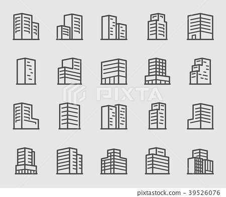 Office building line icon 39526076