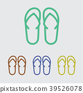 Sandals line icon 39526078
