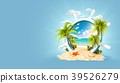 Tropical landscape in a helm 39526279