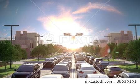 Air transport in an urban environment. Modern fast 39530101
