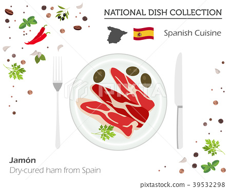 Spanish Cuisine. European national dish collection 39532298