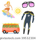vector, water, surfing 39532304