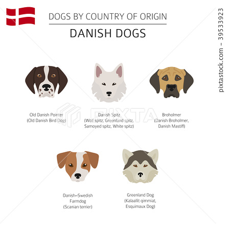 Dogs by country of origin. Danish dog breeds 39533923