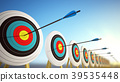Arrows hitting the centers of targets 39535448